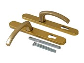 Гарнитур нажимной FKS подпружиненный, золото матовое 30A/1005/F3/TS72
