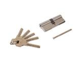 Цилиндр профильный ELEMENTIS 40(ключ)/40(ключ) ЦАМ, 5 перфорированных ключей, никелированный