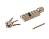 Цилиндр профильный ELEMENTIS с ручкой 35(ключ)/45(ручка), никелированный