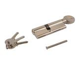 Цилиндр профильный ELEMENTIS с ручкой 50(ручка)/40(ключ), никелированный