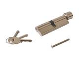 Цилиндр профильный ELEMENTIS с ручкой 50(ручка)/50(ключ), никелированный