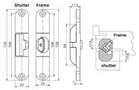 Фото - Стабилизатор для скрытых петель, из 2 частей, 120x23 мм, цамак, белый 10 из 2 х частей белый