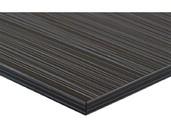 Фасад МДФ глянцевый луч черный (Laser Negro) ALVIC