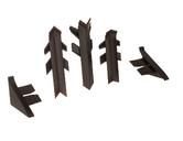 Комплект соединителей к бортику Перфетто-лайн / SB 135 96102 коричневый фото