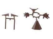 Комплект соединителей треугольного пристеночного бортика ALPHALUX (6 частей), пластик, темно коричневый фото