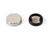 Накладка декоративная для петли QS для стеклянной двери, круглая, хром