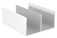 Направляющая верхняя, алюминий в ПВХ, белый глянец, 5900 мм