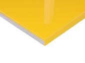Плита МДФ Желтый 1013 глянец УФ-лак, 16*1220*2440 мм плита мдф макассар 3204 глянец уф лак 16 1220 2440 мм