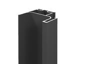 Профиль GOLA FIRMAX вертикальный боковой L=3000mm, алюминий черный алюминиевый профиль lumker l 9086 b