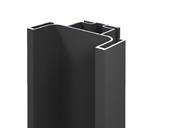 Профиль GOLA FIRMAX вертикальный средний L=3000mm, алюминий черный
