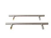 Ручка для алюминиевых дверей со смещением, комплект с креплением, L= 650, м/о 450, D=32, матов.