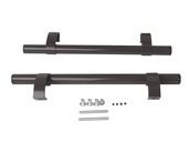 Ручка дверная прямая 500мм с креплением, коричневый