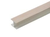 Соединитель 180гр. кухонного цоколя пластик Дуб млечный L=1м FIRMAX