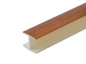 Соединитель 180гр. кухонного цоколя пластик Орех темный L=1м FIRMAX