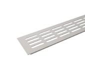 Вентиляционная алюминиевая решетка Bauset для подоконника 800/80 мм, белая