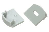 Заглушка торцевая для профиля НП-2, c отверстием заглушка пластиковая для д профиля квадратного 20 sb черные